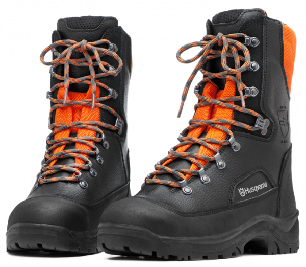 Ботинки кожаные с защитой от пореза бензопилой Husqvarna Classic р. 40