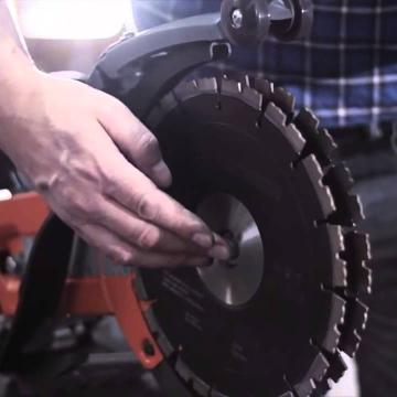 Как заменить диск на Husqvarna K4000 CUT-N-BREAK