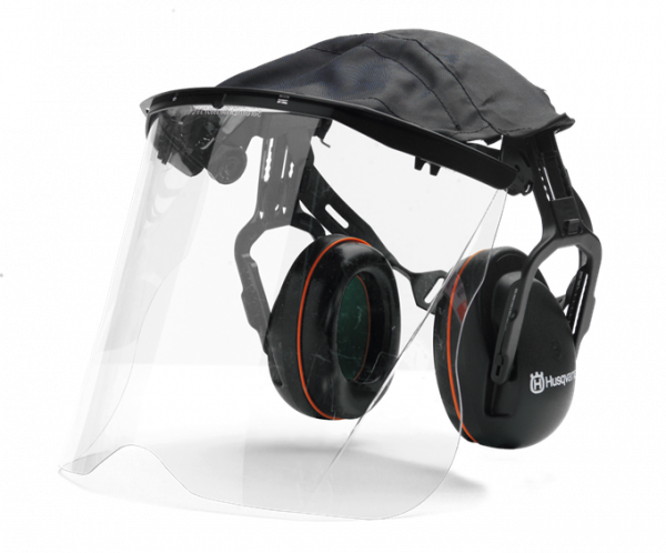 Hаушники защитные Husqvarna с прозрачной маской из плексигласа