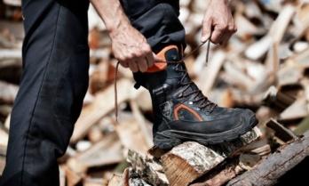 Ботинки кожаные с защитой от пореза бензопилой Husqvarna Classic р. 41