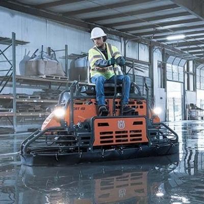 Применение затирочных машин по бетону