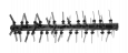 Ударные ножи скарификатора для цеповой косилки