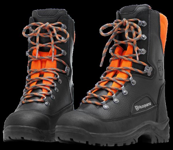 Ботинки кожаные с защитой от пореза бензопилой Husqvarna Classic р. 43