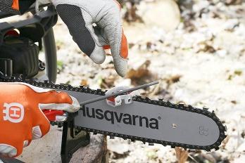 Струбцина Husqvarna для заточки цепи